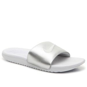 NIKE KAWA SLIDE SANDAL SILVER NEW WITH TAGS